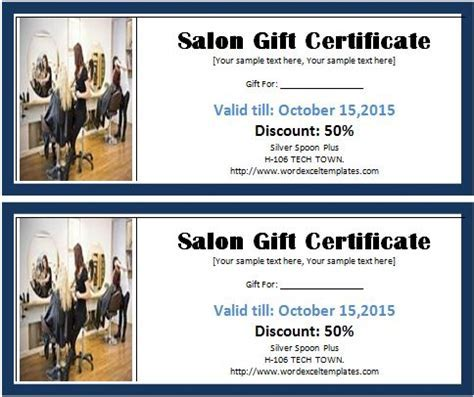 Hair salon gift certificate template un mission ms word salon gift certificate template word excel yelopaper Choice Image