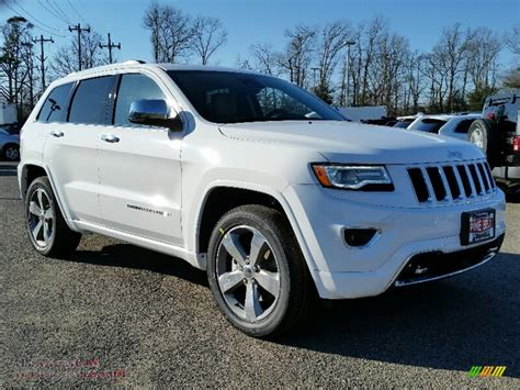 white jeep 2016 2016 jeep grand cherokee overland 4x4 in bright white