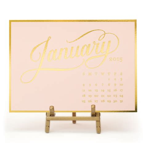 Pink And Gold Desk Calendar by On My Wishlist Gold And Blush Pink York Avenue