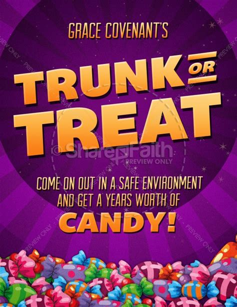 trunk or treat flyer template trunk or treat fall festival celebration flyer for church template flyer templates