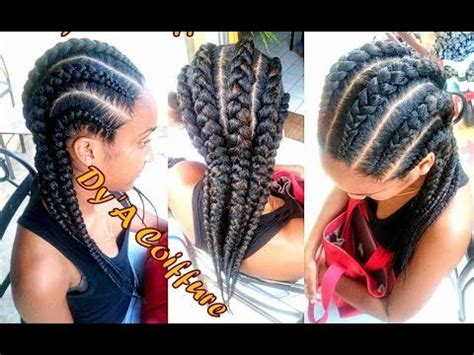 big straight back french braids tutorial 6 invisible feeding cornrows from different
