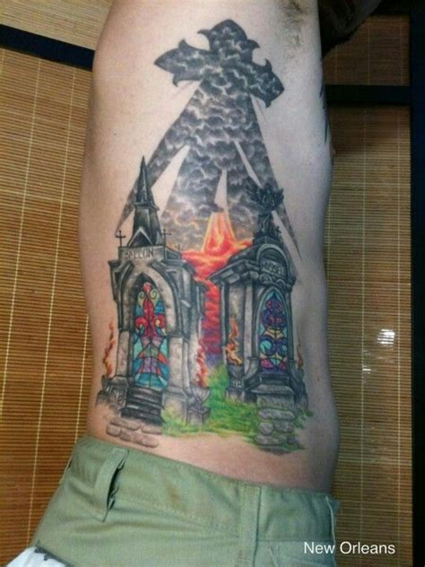 watercolor tattoo new orleans mausoleum new orleans style cemetery tattoos
