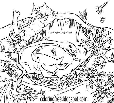 sea dinosaurs coloring pages jurassic dinosaurs coloring pages coloring now blog