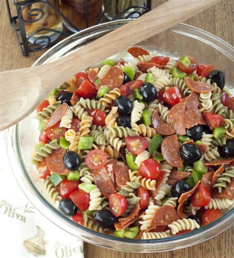 pasta salad ingredients classic italian pasta salad wishes and dishes