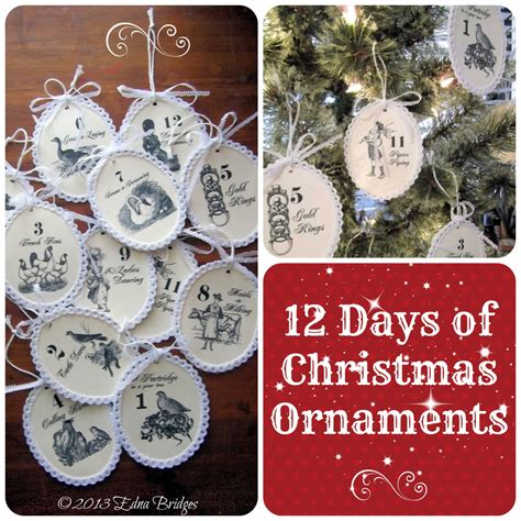 12 days of christmas decorations twelve days of ornaments instant epattern