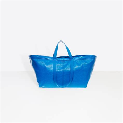 new ikea bag balenciaga s new tote takes inspiration from ikea s