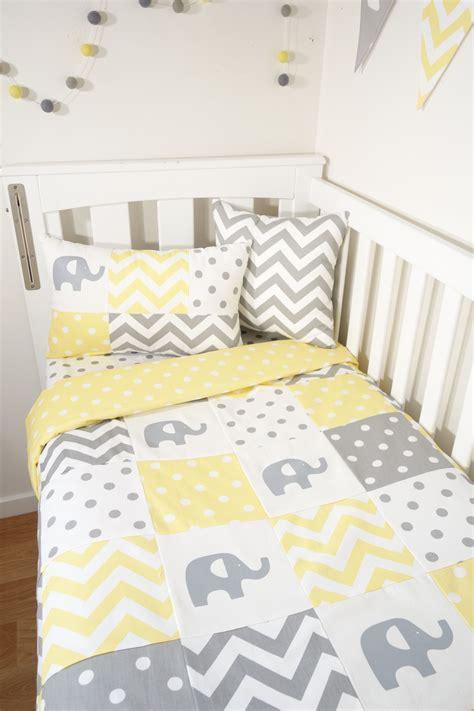 Yellow And Grey Elephant Crib Bedding Yellow And Grey Elephant Patchwork Yellow White Spot Quilt Backing Nursery Set Items