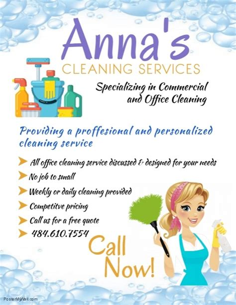 Copy Of Cleaning Service Template Postermywall Cleaning Service Template Free