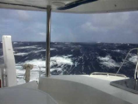 catamaran storm video 46 catamaran in big seas youtube