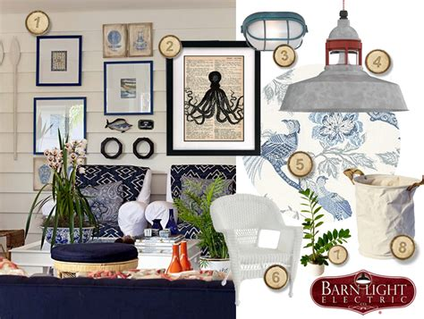 nautical inspired coastal cottage living room