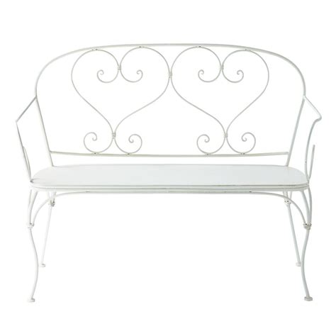 wrought iron garden bench seat 2 seater wrought iron garden bench seat in ivory st