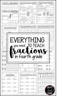 teaching fractions for 4th grade fraction activities 4th