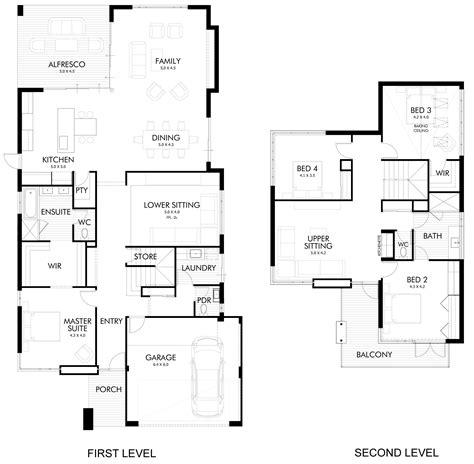 modern home floorplans second floor plans modern home in wandi perth