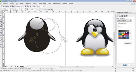 imagenes vectoriales para corel draw como hacer un tux en corel draw x3 part 1 youtube