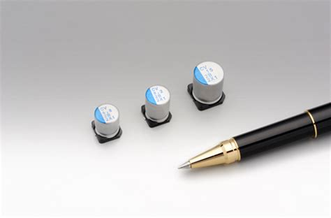 aluminum polymer capacitor voltage derating industrial factory automation development of the quot cv series quot 125v chip type conductive polymer