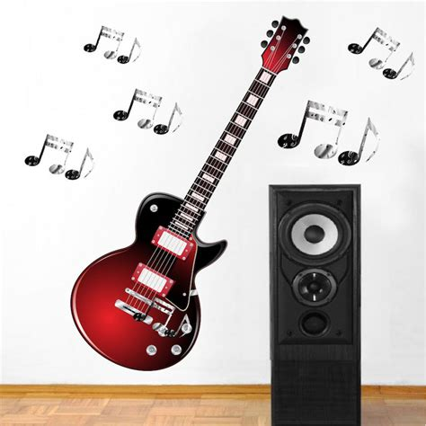 Guitar Wall Stickers the gallery for gt electric guitar stickers