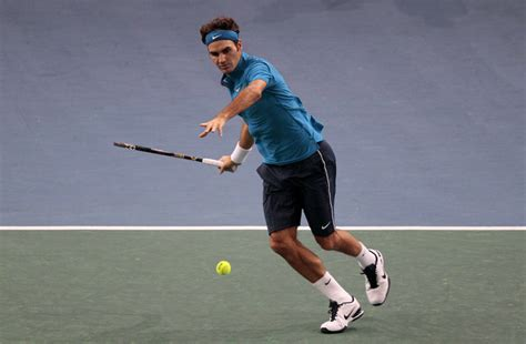 Federer hits forehand   Paris Masters 1000 ? FedFan