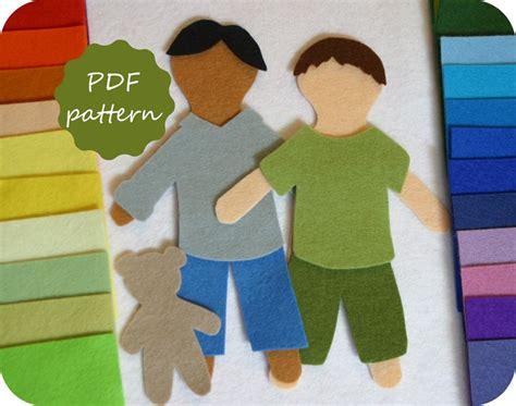 felt pattern pdf elliott felt paper doll pdf pattern for flannel board