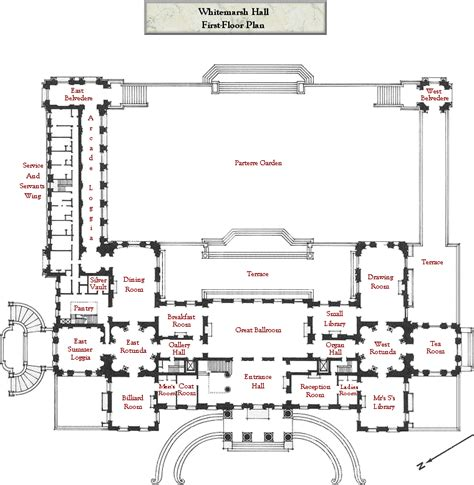 Mansion Floor Plan by Mansion Floor Plans Whitemarsh Hall Wyndmoor