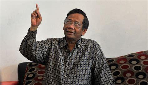 Politik Hukum Di Indonesia Mohmahfud Md jazuli laporkan mahfud md ke mabes polri