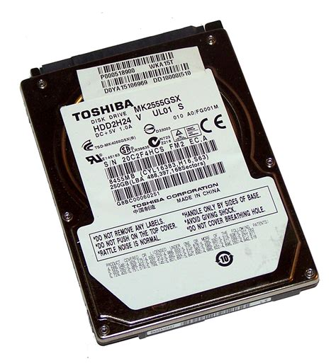 Hardisk V toshiba mk2555gsx 250gb 5 4k 2 5 quot sata disk drive
