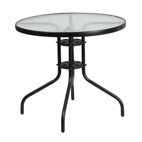 glass table top for patio furniture flash furniture patio dining table with glass top jet