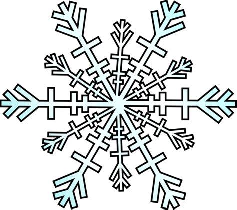 snowflakes printable clipart snowflake clip art at clker com vector clip art online