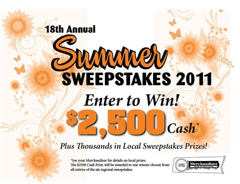 Mail In Entry Sweepstakes - summer sweepstakes