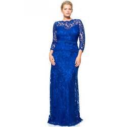 Buy elegant royal blue plus size mother of the bride lace dresses pant