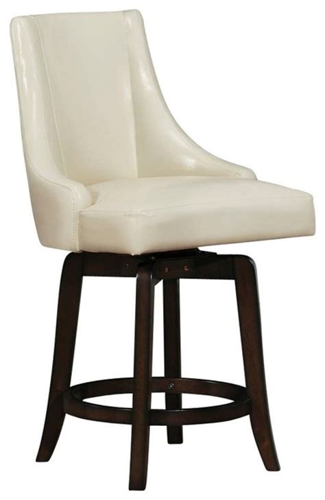 counter height swivel chairs homelegance annabelle swivel counter height chair in