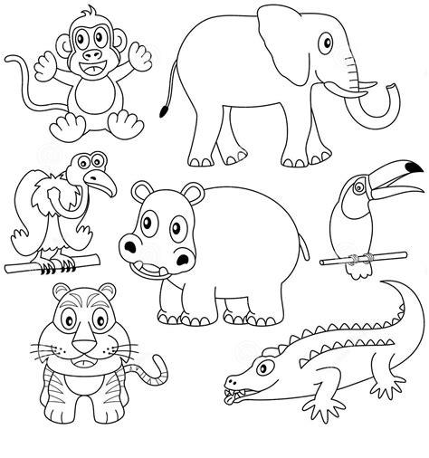 imagenes de animales omnivoros para imprimir animales mamiferos para colorear