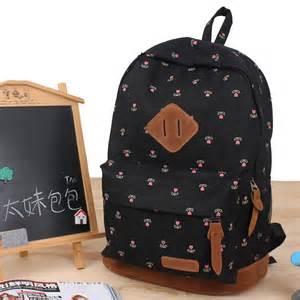 Teenage girl sweet printing backpack canvas bookbag backpacks