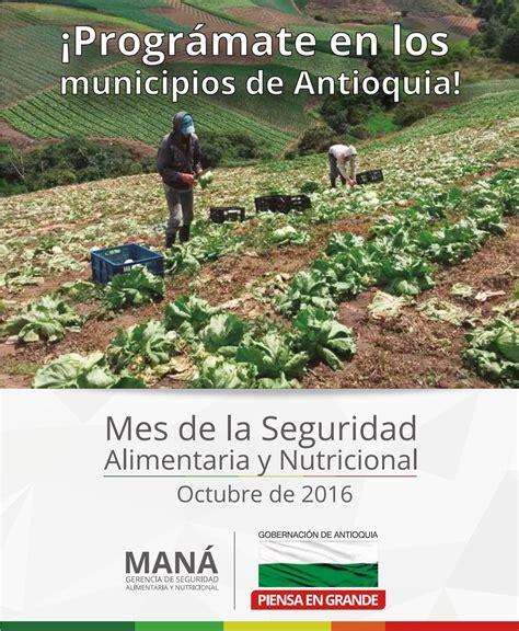 mes de la seguridad tema 2016 programaci 243 n municipios mes de la seguridad alimentaria y