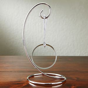 curved silver christmas ornament display stand ornament