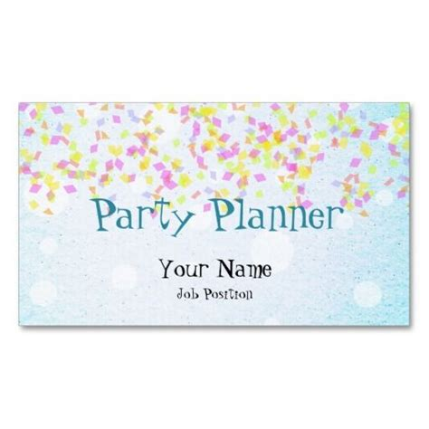 Event Planner Business Card Templates Free by Sprinkled Paper Planner Business Cards Colorful Pink