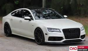 Audi a7 satin pearl white wrap