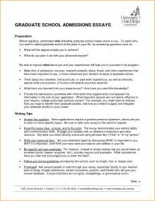 Sle Essay For Graduate School Admission by Graduate School Essay Exles Haadyaooverbayresort