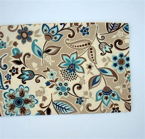 Teal And Brown Valance Valley Valance Curtains Brown Blue Teal Flowers By