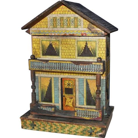 nice doll houses bliss american lithographed paper on wood doll house late