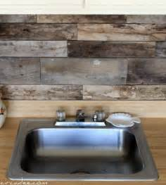 Budget Kitchen Backsplash Cheap Diy Rustic Kitchen Backsplash Shelterness