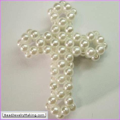beaded pearl cross chrismon chrismons
