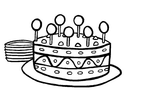 Cake To Color Coloring Pages Colouring Pages Of Cakes