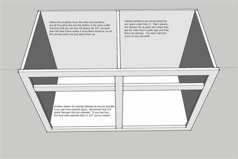 how to build cabinet carcass build cabinets using less wood by joining adjacent