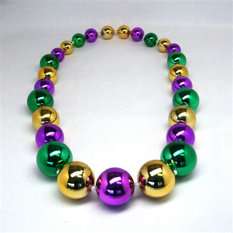 large mardi gras mardi gras big necklace