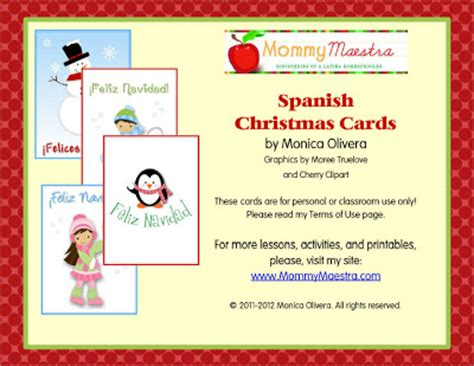 Printable Christmas Cards In Spanish | mommy maestra december 2011