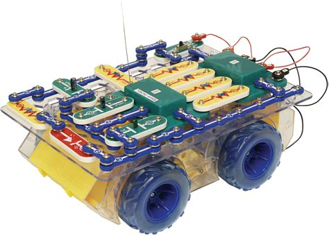 electric circuit kit elenco snap circuits remote rover kit scrov 10