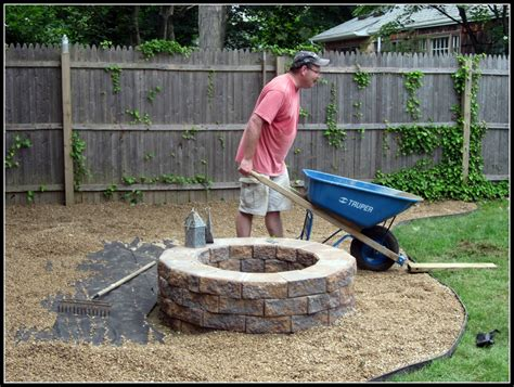 building a firepit in backyard homeroad building a fire pit