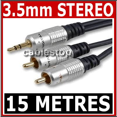 Quality 35mm Stereo To Rca Audio Cable 15m 15m stereo 3 5mm to 2 x rca phono audio