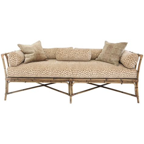 bamboo sofa furniture vintage bamboo daybed sofa at 1stdibs