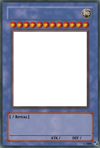 yugioh anime card template yu gi oh ritual card template by trgpunisher on deviantart